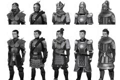 Medieval Asian Knight Thumbnails